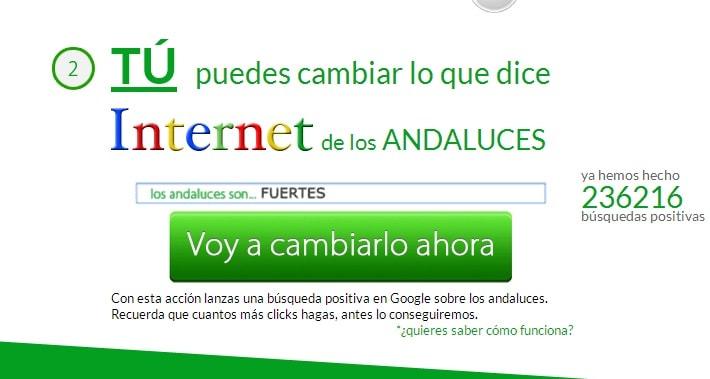 Losandalucesson es una web que cambia las sugerencias de autocompletado de Google