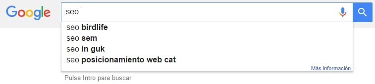 modificar google suggest