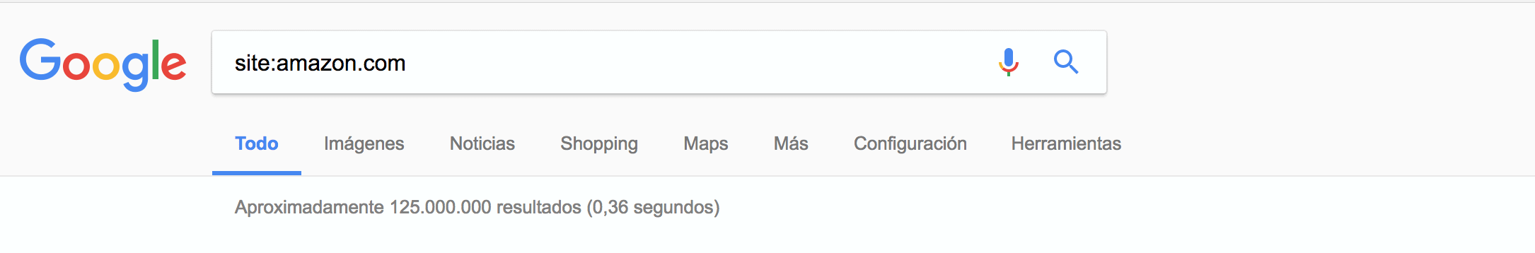 Resultados de Amazon en Google