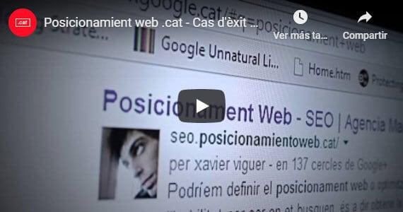 Vídeo explicativo sobre posicionamientoweb.cat