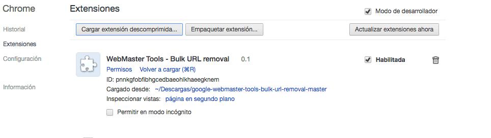 webmaster tools bulk url removal google